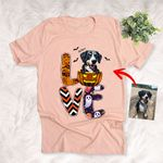 Love Halloween Spooky Pattern Customized Dog Colorful painting T-Shirt Gift For Halloween, Spooky Dog Lover