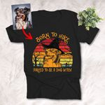 Customized Sketch Dog Witch Halloween T-Shirt Gift For Dog Lover