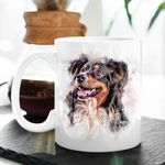 Personalized Dog Watercolor Effect Mug For Men And Women Dog Owners Anniversary Gift For Her, Birthday Gift For Pet Lovers
