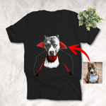 Halloween Vampire Costume Customized Dog T-Shirt Gift For Halloween, Spooky Vibes Lover