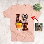 Love Candy Corn Pet Customized Sketch T-Shirt Gift For Halloween, Spooky Dog Lover