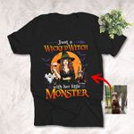 Personalized Just a Wicked Witch Colorpainting Dog Halloween T-Shirt Gift For Dog Mom