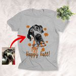Happy Fall Customized Dog Custom Autumn T-Shirt Gift For Dog Lovers, Pet Owners