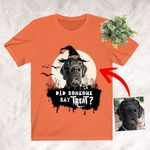 Customized Dog Color Painting Halloween T-Shirt