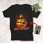 Halloween Customized Dog Portrait Colorful painting T-Shirt Gift For Halloween, Spooky Dog Lover
