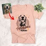 Personalized Fall Pattern Dog Custom Autumn Sketch T-Shirt Gift For Dog Lovers, Pet Owners