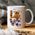 All I Need Is Love Halloween And Dog Custom Dog Illustration Coffee Mug Gift For Spooky Dog Mom, Fur Mom, Dog Lovers