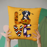 All I Need Is Love Halloween And Dog Pillow Case For Halloween, Gift For Spooky Dog Mom