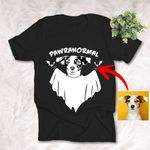 Pawranomal Ghost Dog Customized Unisex T-Shirt Gift For Halloween, Spooky Dog Lover