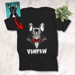 Scary Vampire Dog Customized Sketch T-Shirt Gift For Halloween, Spooky Dog Lover
