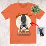 A Bat Dog Colorful Halloween T-Shirt Personalized Gift for Dog Lover