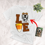 Fall In Love WIth Pet And Halloween Customized Sketch T-Shirt Gift For Halloween, Spooky Dog Lover