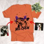 Personalized Halloween Witch Hat Custom Dog Portrait T-Shirt