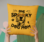 Spooky Dog Mom Customized Sketch Pillow Case For Halloween, Gift For Spooky Dog Mom