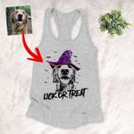 Personalized Witch Halloween Dog Sketch Portrait Multi-style T-Shirt