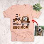 I Love Being A Dog Mom Dog In Farm Truck Custom Sketch T-Shirt Gift For Halloween, Spooky Dog Lover