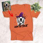 Customized Halloween Witch Hat Pet Portrait T-Shirt