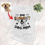 Customized Halloween Spooky Dog Mom Pet Portrait T-Shirt