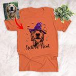 Happy Halloween Sketch Dog Witch Hat Pet Portrait T-Shirt