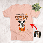 You Are The Pumpkin To My Pie Custom Pet Portrait T-Shirt Gift For Halloween, Dog Mom