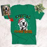 Merry Christmas 2021 Dog Portrait Custom T-Shirt Gift For X-mas