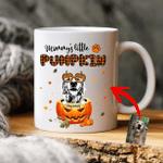 Mommy's Little Pumpkin Custom Pet Portrait Coffee Mug Gift For Spooky Dog Mom, Fur Mom, Dog Lovers