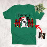 Personalized Sketch Pet Portrait Merry Christmas T-Shirt Gift For Christmas