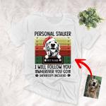 Personal Stalker Sketch Pet Portrait Custom Christmas T-Shirt Vintage Background Gift For Christmas