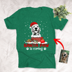Santa Paw Is Comming Christmas Custom T-shirt Gift For Dog Lovers, Dog Parents