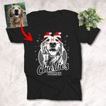 Customized Christmas Funny Glasses Sketch Pet T-Shirt Gift For Xmas