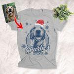 Santa Dog Sketch Pet Portrait Christmas Hats Shirt For Dog Lover