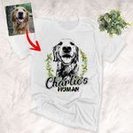 Christmas Vibes Wreath Fairy Lights T-Shirt For Dog Lover
