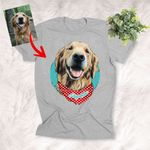 Colorful Painting Happy Dog Face Unisex T-shirt Gift For Dog Lovers