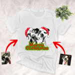 Personalized Sketch Pet Portrait T-shirt Christmas Gift For Dog Mom, Dog Dad, Pet Parents