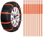 Automobile Wheel Plastic Snow Chains (10 Pieces)