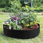 Raised Garden Bed - Circular Felt Fabric