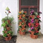 Stand Stacking Planters Strawberry Planting Pot