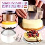 🔥 Stainless Steel 3d Round Cake Molds