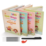 Magic Practice Copybook (4 Pack) + Magic Pen 🔥 HOT DEAL - 50% OFF 🔥