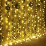 Vine Hanging Garland with LED , Hanging for Home Kitchen Garden Office Wedding Wall Decor, Green