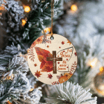 Fall For Jesus He Never Leaves - Ornament