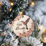 Just Breathe Hummingbird - Ornament