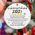 Finally We Were Vaccinated Pandemic Holiday Xmas Ornament