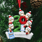 Vaccine Christmas Ornament Personalized Christmas Decor New Year Customized Ornaments With Mask
