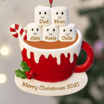 Personalized Christmas Ornament Family Of 2 3 4 5 6 Ornament