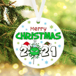 Merry Christmas 2021 Ornament 2021 Christmas Ornament