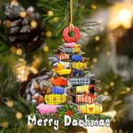 2021 Wooden Print Animalchristmas Tree Ornaments Decor