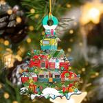 2021 Christmas Tree Wooden Print Ornaments Decor