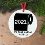 2021 Christmas Ornaments Toilet Paper Quarantine Social Distancing