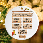 When It Hasn't Been Your Day Your Week Your Month Or Even Your Year Xmas Ornament 2021